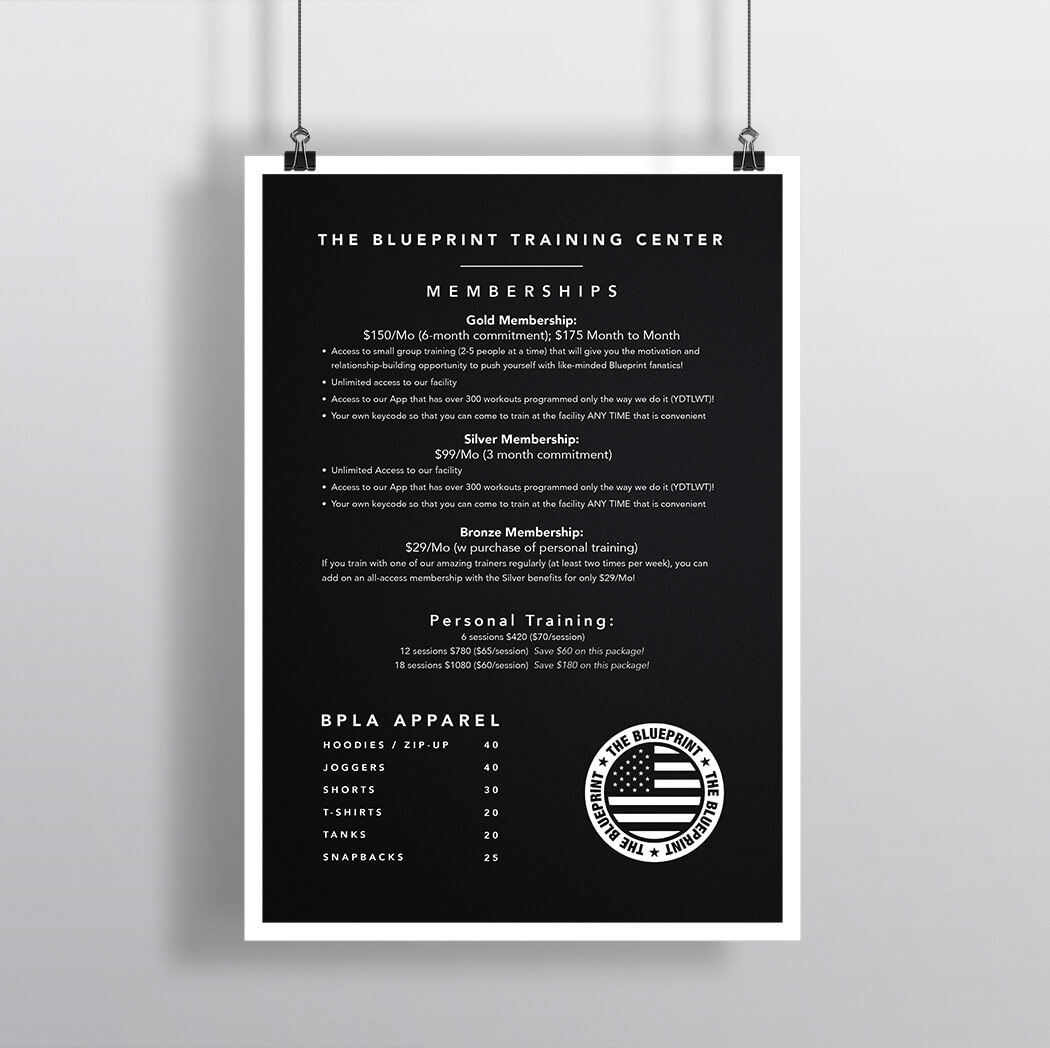 Pricing Poster
