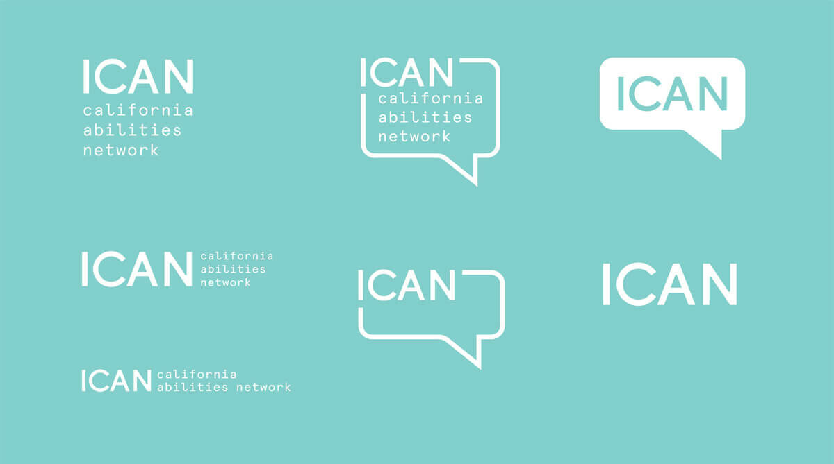 One Color Logos for ICAN