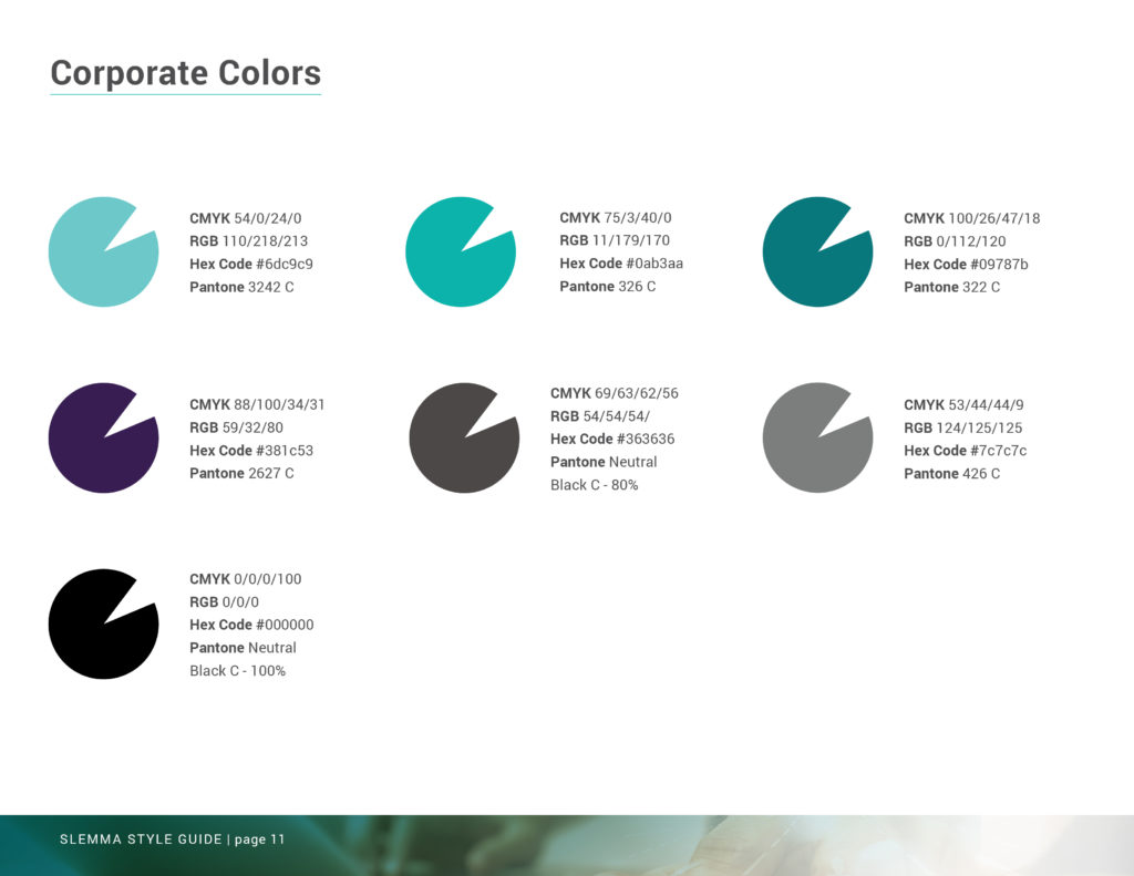 Branding Studio Stellen Design _ Brand Guide Showing use of color
