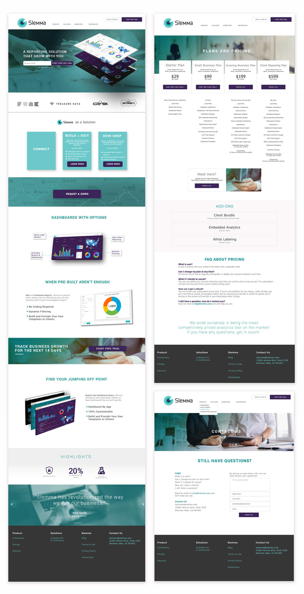 Slemma Website Design
