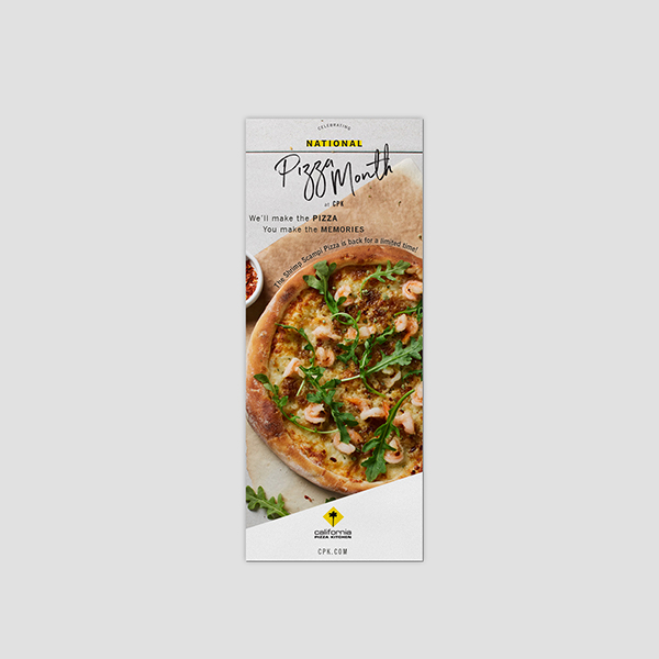 CPK Printed Menu