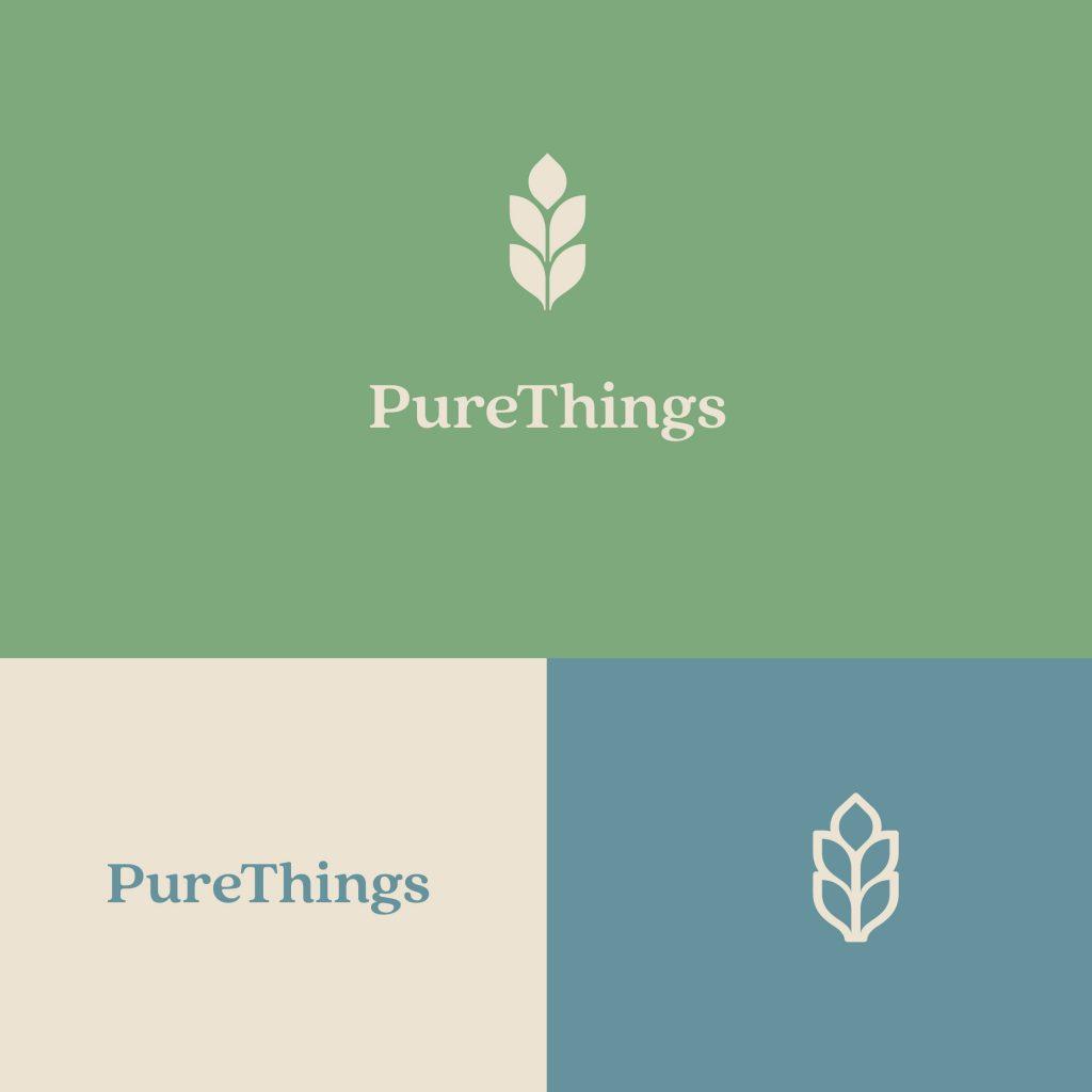 Purethings Heart Tree Logo Design by Stellen Design Graphic Design firm in Hermosa Beach