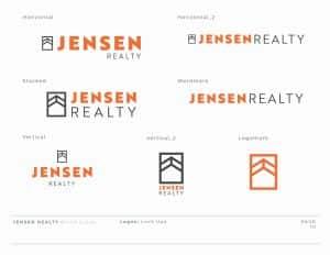 Logo Design for Jensen Reality by Stellen Design Graphic Design and Brand Development Hermosa Beach
