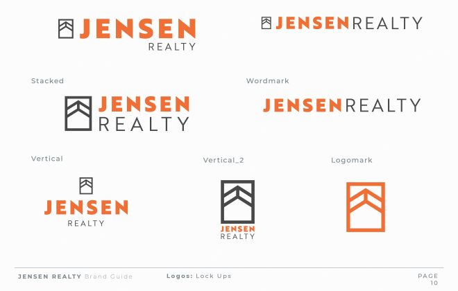 Logo Design for Jensen Reality by Stellen Design Graphic Design and Brand Development Hermosa Beach