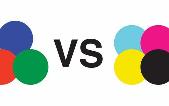 RGB VS CMYK by Stellen Design graphic design firm in Los Angeles