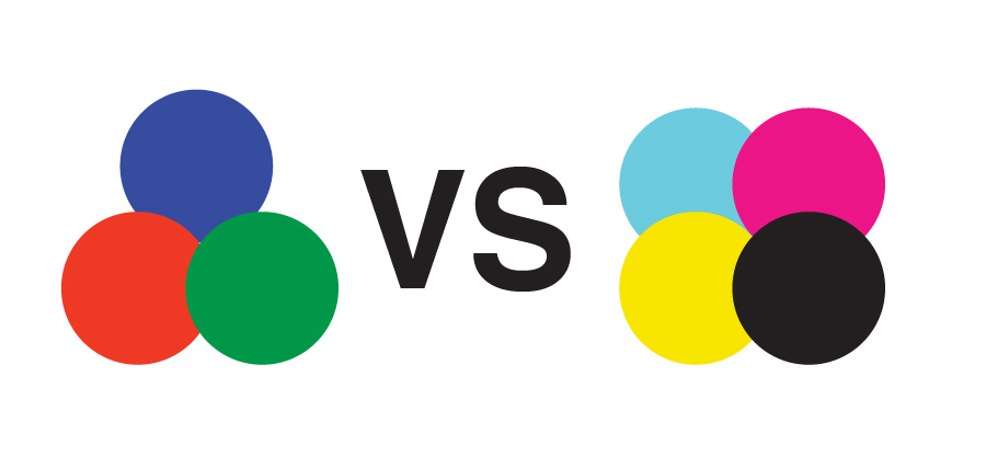 RGB VS CMYK by Stellen Design graphic design firm in Los Angeles