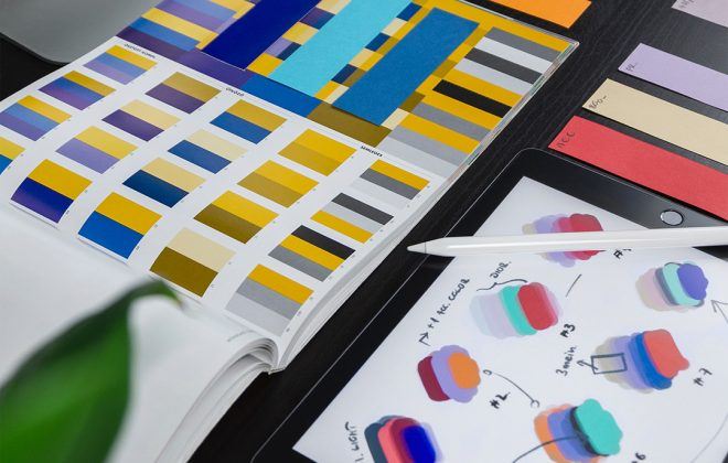 books with color swatches