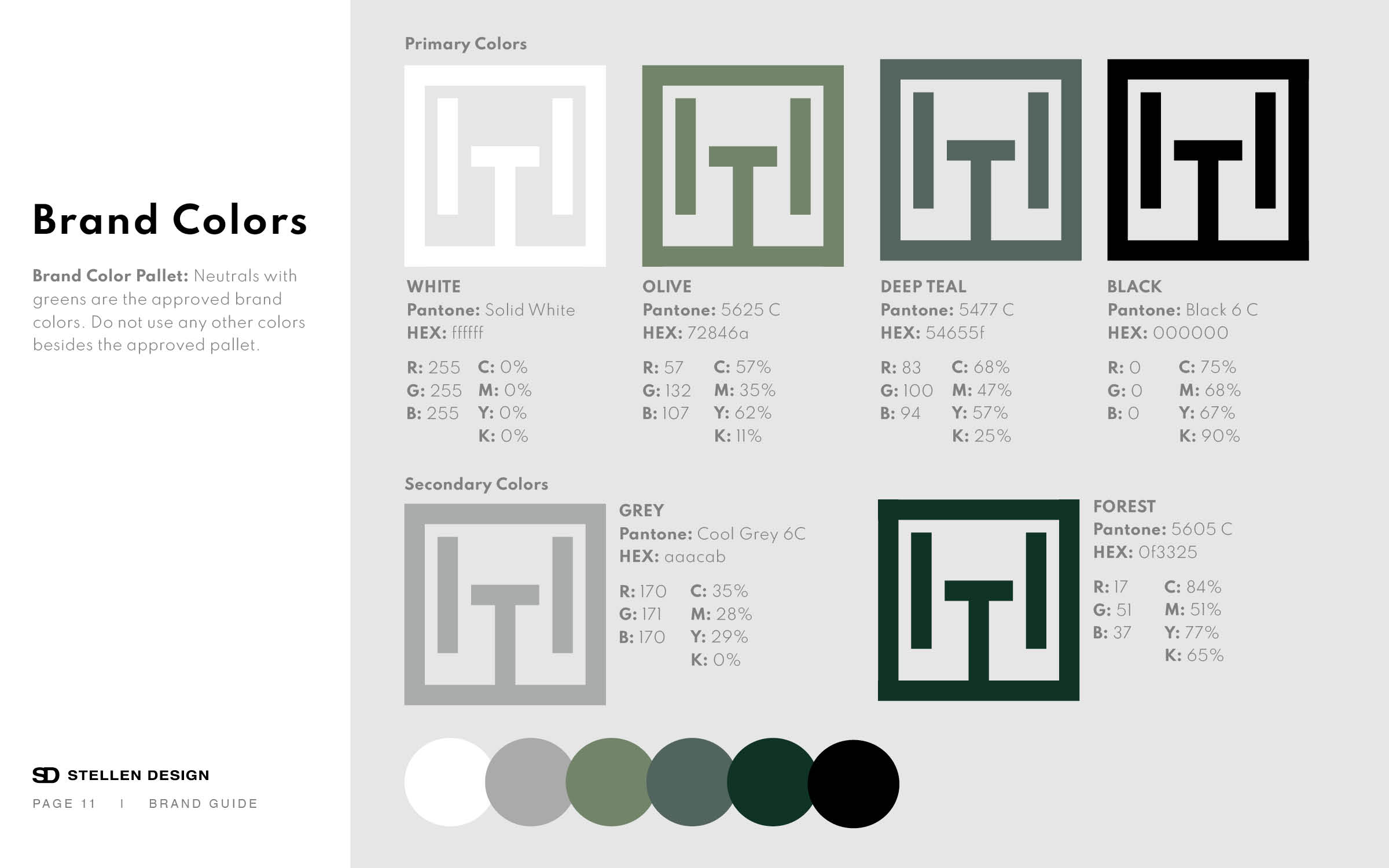Hillside Terrace Brand Colors