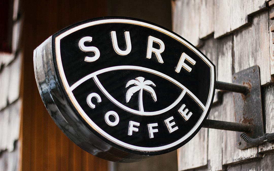 Stellen Design using an image of a Surf Coffee Logo for How Much Should a Logo Cost