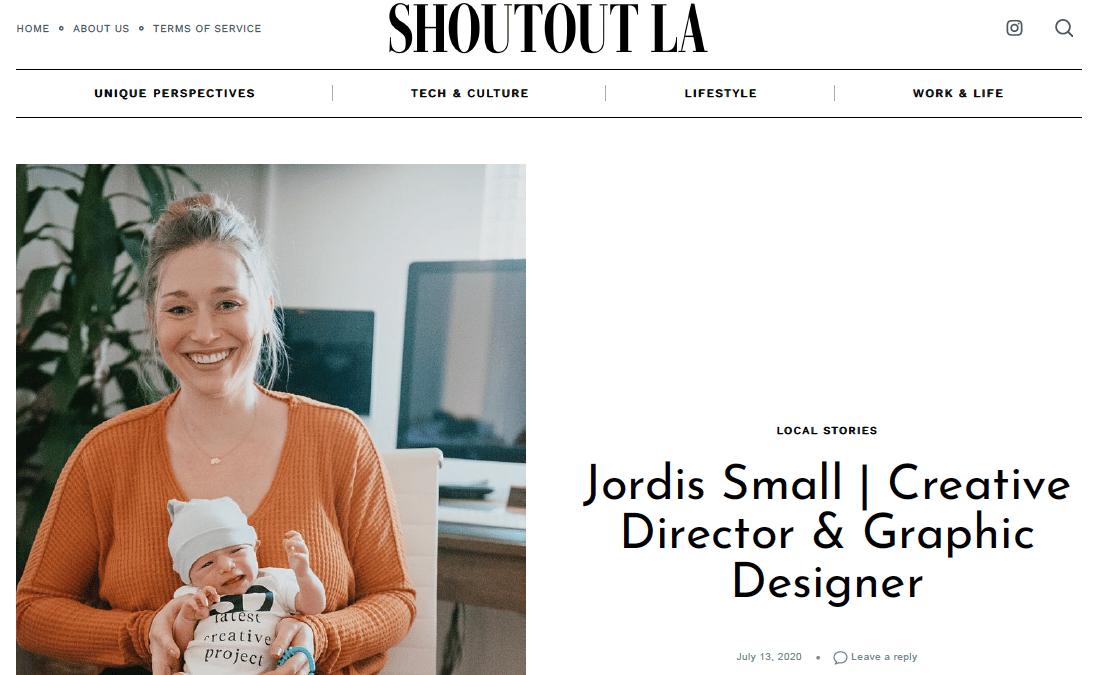 Jordis Small Graphic Designer and Creative Director of Stellen Design Graphic Design and Branding