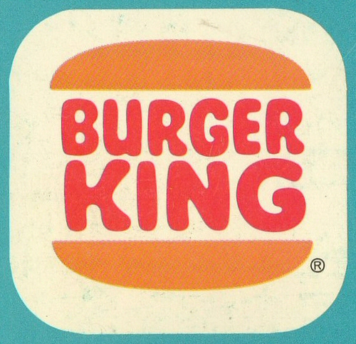 Vintage Burger King Logo on Stellen Designs Hungry Colors Blog Post