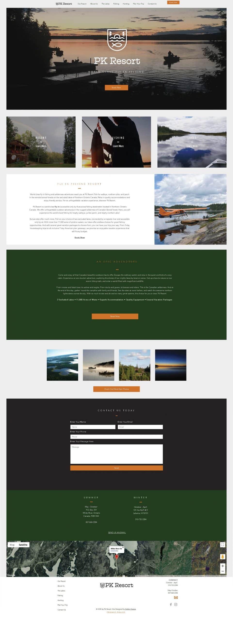 PK Resort Website Design