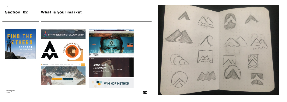 Showing our process in creating a logo in an article by Stellen Design branding Agency in Los Angeles CA
