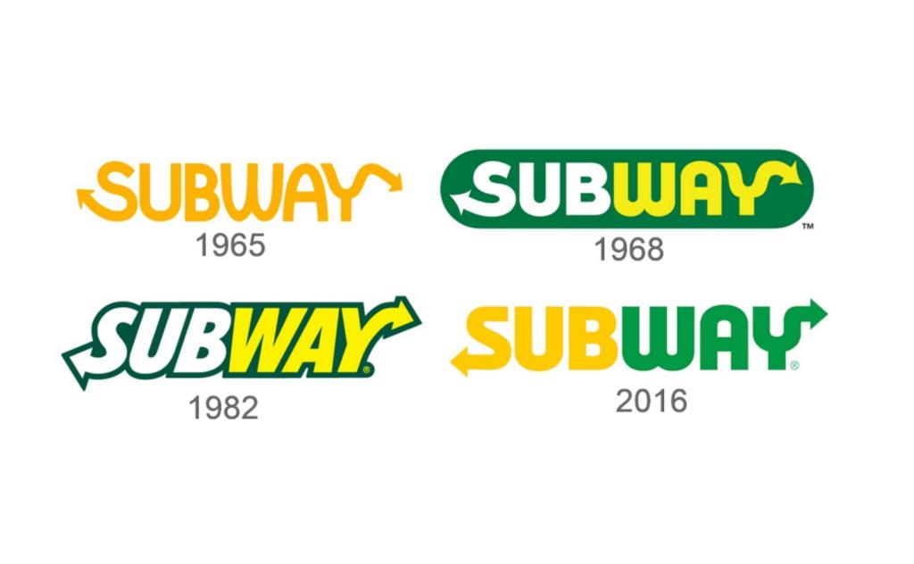 Stellen Design Branding Agency in Los Angeles Article based on successful rebrands highlighting the Subway Logo